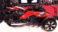 2015 Can-am Spyder F3 S Muscle Attitude at 2014 New York Motorcycle Show
