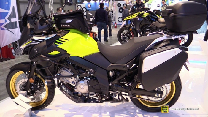 2017 suzuki v strom 650 xt at 2016 eicma milan motorcycle exhibition. Black Bedroom Furniture Sets. Home Design Ideas